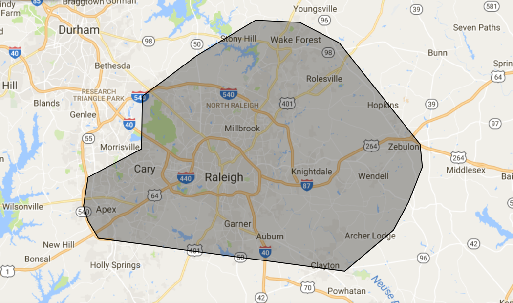 Raleigh Screen Porch builder map