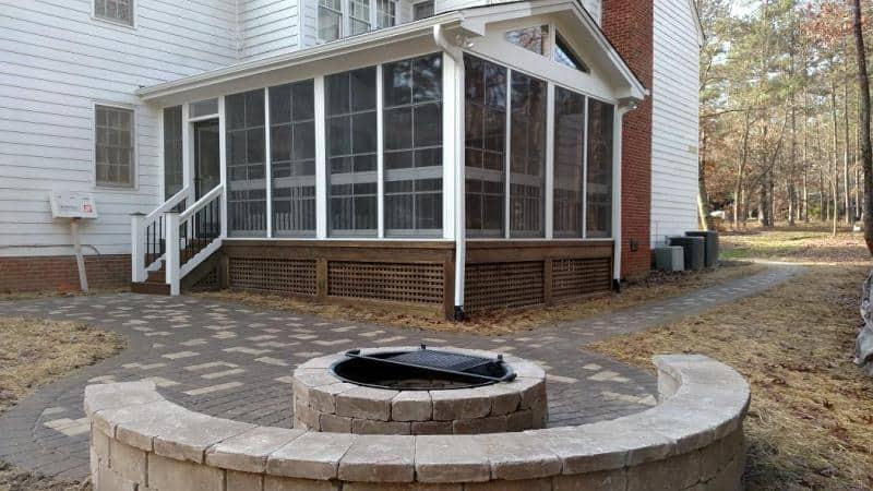 Raleigh 3 season room and patio